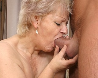 Kinky mama fucking and sucking her tits off